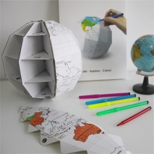 DIY 3D Colour My World Globe