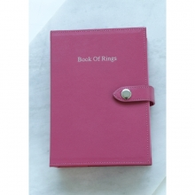 Leather Book Of Rings Hot Pink