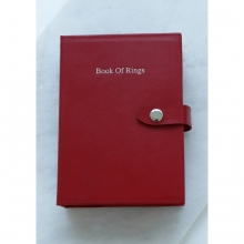 Leather Book Of Rings Red