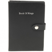 Leather Book Of Rings Black