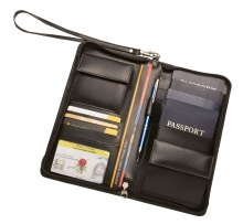 Leather RFID Family Travel Wallet