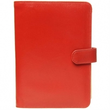 Leather Jewellery Holder Fire Engine Red