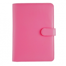 Leather Jewellery Holder Hot PInk