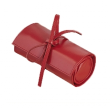 Leather Jewellery Holder Red