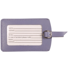 Leather Luggage Tag Lilac