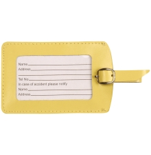 Leather Luggage Tag Lemon