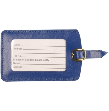 Leather Luggage Tag Navy