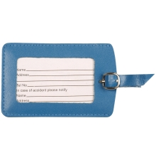 Leather Luggage Tag Ocean Blue