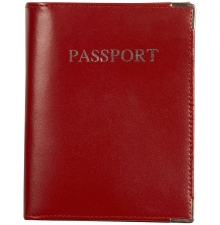 Leather Passport Wallet Red