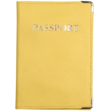 Leather Passport Holder Lemon