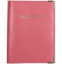 Leather Passport Wallet Hot Pink