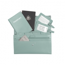 Leather Travel Set Aqua