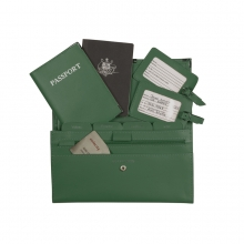Leather Travel Set Dark Green