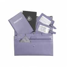 Leather Travel Set Lilac