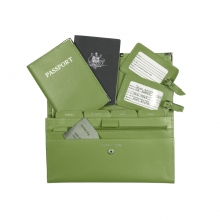 Leather Travel Set Lime