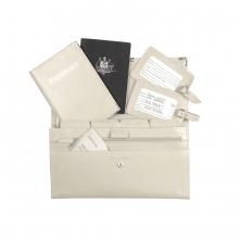 Leather Travel Set Cream