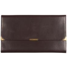 Leather Travel Wallet Dark Brown