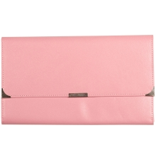 Leather Travel Wallet Baby Pink