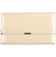 Leather Travel Wallet Cream