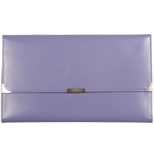 Leather Travel Wallet Lilac