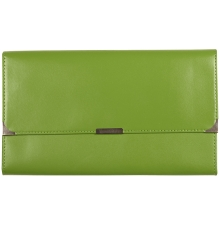 Leather Travel Wallet Lime