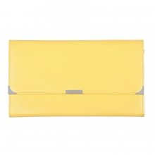 Leather Travel Wallet Lemon