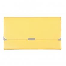 Leather Travel Wallet Lemon