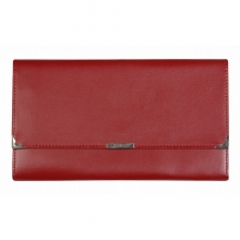 Leather Travel Wallet Maroon