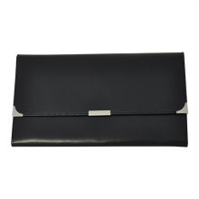 Leather Travel Wallet Black