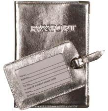 Metallic Passport Holder and Tag