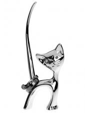 Silverplated Cat Ring Holder