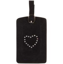 Suede Luggage Tag Black