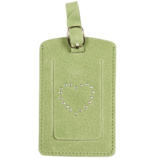 Suede Luggage Tag Lime