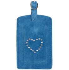Suede Luggage Tag Ocean Blue