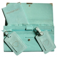 Suede Travel Set Aqua
