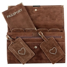 Suede Travel Set Chocolate