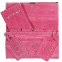 Suede Travel Set Hot Pink