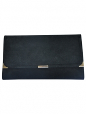 Suede Travel Wallet Black