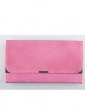 Suede Travel Wallet Hot Pink