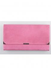 Suede Travel Wallet Hot Pink