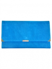 Suede Travel Wallet Ocean Blue