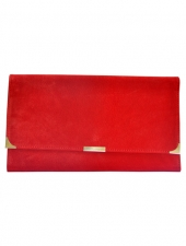 Suede Travel Wallet Red