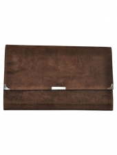 Suede Travel Wallet Chocolate